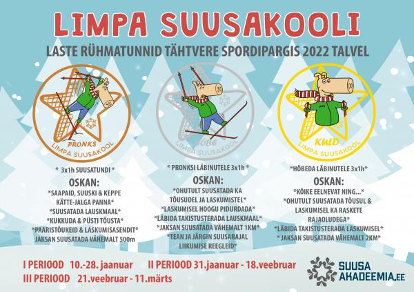 Limpa suusakooli õppeprogramm 2022